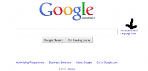Google search front page