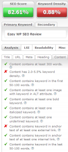 Easy SEO Review Pic 3 Content Tab