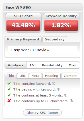 Easy WP SEO Review Pic 1