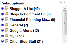 Google Reader Commenting on Blogs folder