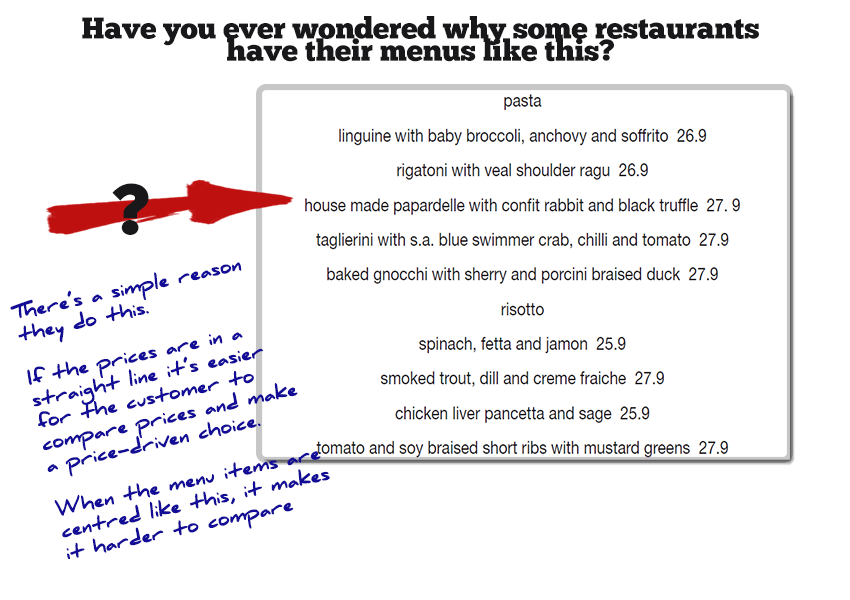 Restaurant Menu Pricing Power Example